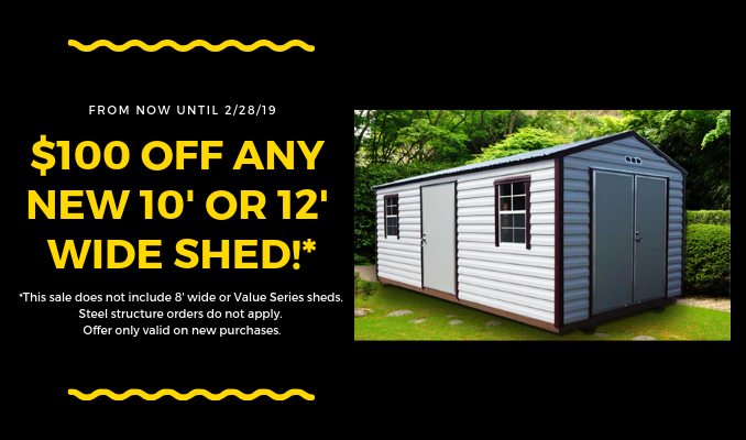 $100 shed coupon